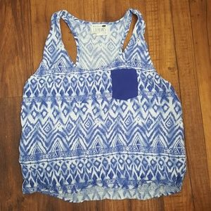 Blue Wash Design Crop Top LA Hearts